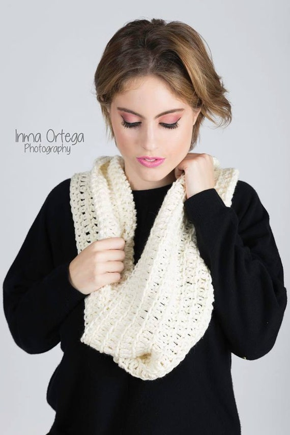 Bufanda crochet doble. cuello infinito. bufanda unisex. | Etsy