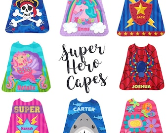Personalized Stephen Joseph Cape / Super Hero Cape / Pretend Play Cape / Kids Valentine Gift /  GIrls Dress Up / Boys Dress Up