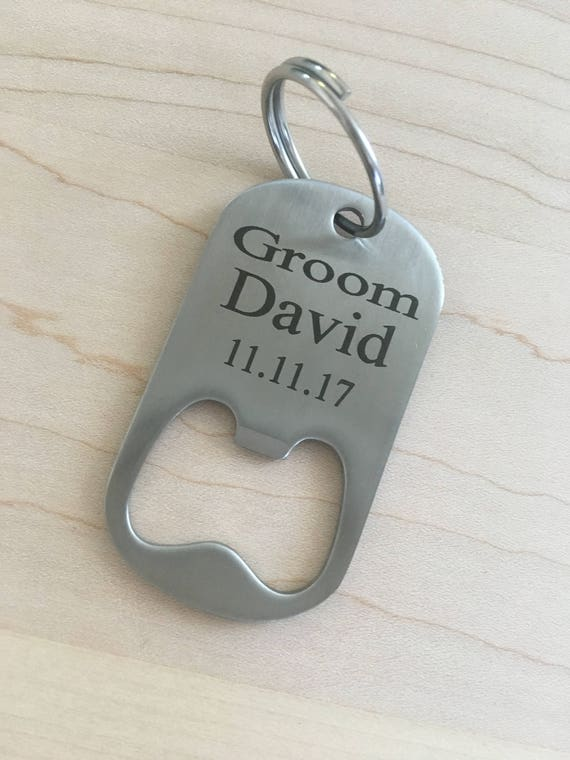 Personalised Bottle Opener Best Man Change Details Wedding Gift