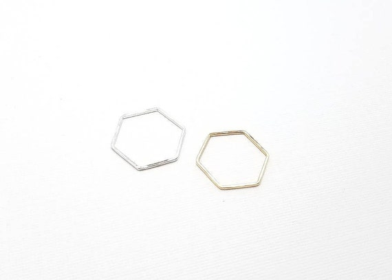 Gift Hexagon Thin Sterling Silver Geometric Stacking Rings Minimalist Set Of 3 Circle Silver Pinky Rings Thin Band Rings Triangle