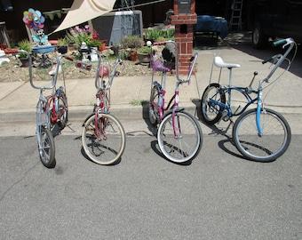 2ee9b261112 Vintage Schwinn Bicycle Collection, Apple Krate, Fastback, Slik Chic, Stik  Shifter