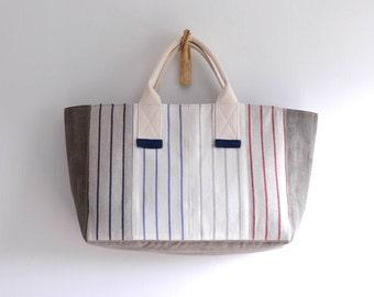 HELLO, Sailor top handle bag, summer beach style simple handbag. style144. Ready to ship