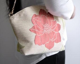 Flower season tassel shoulder bag. woman clutch. Ready to ship