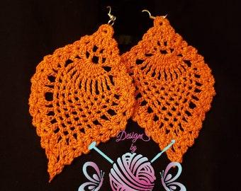 Pineapple pleasure crochet earrings
