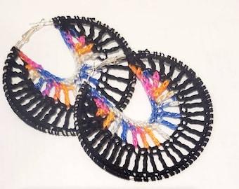 The Tea Venti crochet earrings