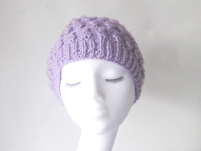 Gorro lila morado claro punto slouchy sombrero sombrero del | Etsy
