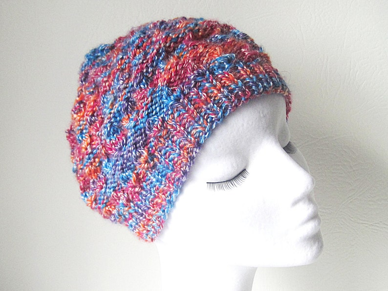 d569db206 Multicoloured hat, Beanie hat, knit beanie, uk hats, Chunky knit hat,  Winter hat, Winter accessories, teen hat, gift for her, ladies hat