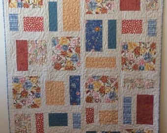 Modern Floral Quilt