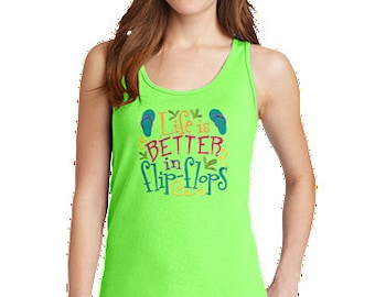 234eb9b27dad9b Flip flop tank top