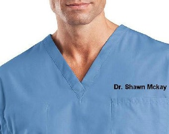 2facd36b772 Personalized Medical Scrubs for men or Ladies V-Neck Scrub ,scrub pants/  scrub set. Professional Medical Scrubs, unisex scrubs Personalized