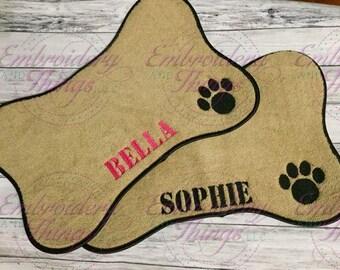 Pet Placemat, Pet mat, Personalized dog Mat, Pet feeding bowl Mat, dog feeding bowl mat, Personalized Pet gifts, New dog gift,  Dog placemat