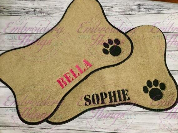 Pet Placemat Pet Mat Personalized Dog Mat Pet Feeding Bowl