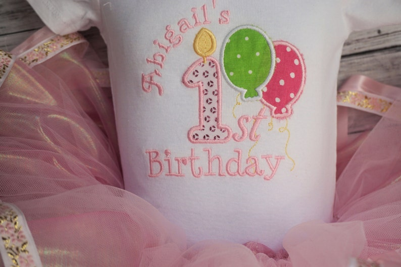 Pink Tutus or First Birthday Outfit 1st Birthday Tutu Girls First Birthday Outfit with tutu skirt Tutu Set