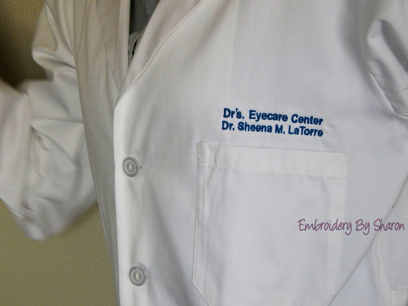 Professional Lab Coats  Medical Lab Coats  Personalized with image 0