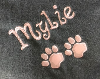 Personalized Pet Blanket - All colors Large size- large size dog blanket - fleece dog blankets