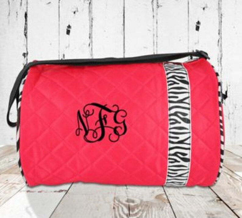 51d45c6c6510 Dance Bag Fuchsia Quilted Dance Duffle Bag Personalized or