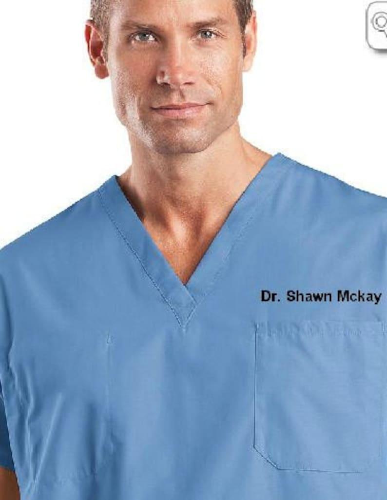 5c5a3bd2ee8 Personalized Medical Scrubs for men or Ladies V-Neck Scrub | Etsy