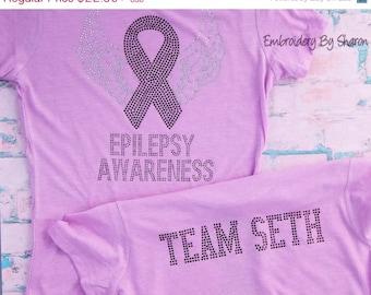 Rhinestone Epilepsy Awareness T-Shirt