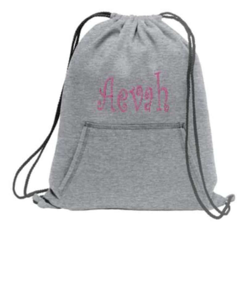 aba3d62db6 Drawstring Sweatshirt bag Personalized DrawString Fleece