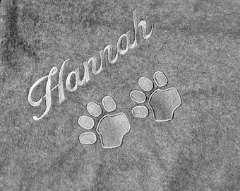 Personalized Pet Blanket -Dog Blankets, Personalized Dog Blankets. All colors Large size- large size dog blanket - fleece dog blankets