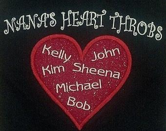 Personalized Sweatshirt for Mom's or Grandma's, Family sweatshirts, Mom gifts, gifts for Grandma, Name shirts, personalized sweatshirts