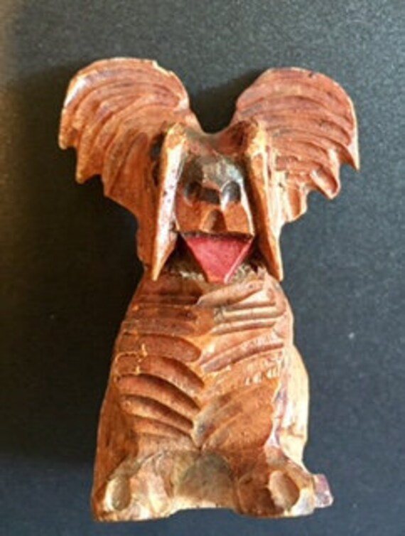 Vintage Arni wood carved