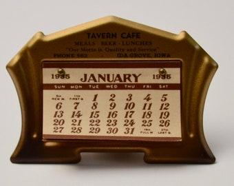 Vintage Desk Calendar from 1935