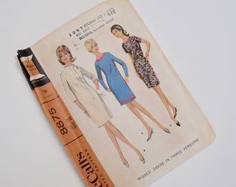 60's dress pattern, McCalls 8875