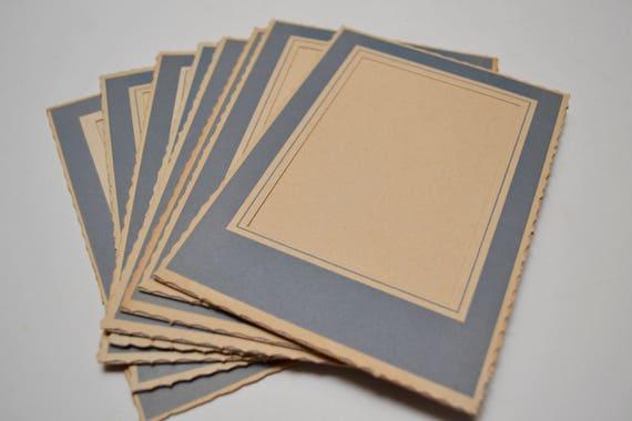 Vintage Photo Frames Set Of Eight Blue Cardboard Picture Etsy