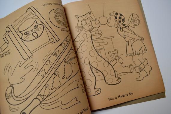 Vintage cahier Whitman Halloween Coloriage et cahier Vintage d'activités e05835