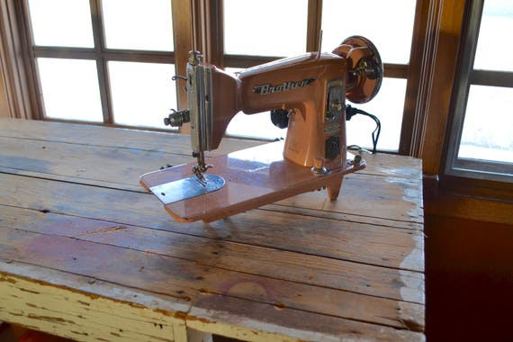Vintage Pink Sewing Machine Brother Window Matic Etsy Awesome Matic Sewing Machine