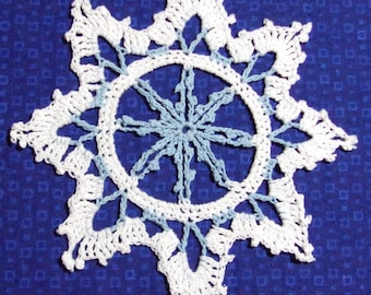 Light Blue and White Snowflake