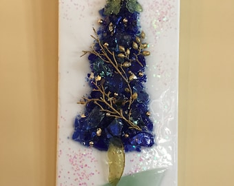 Tree Art with Glass and Resin