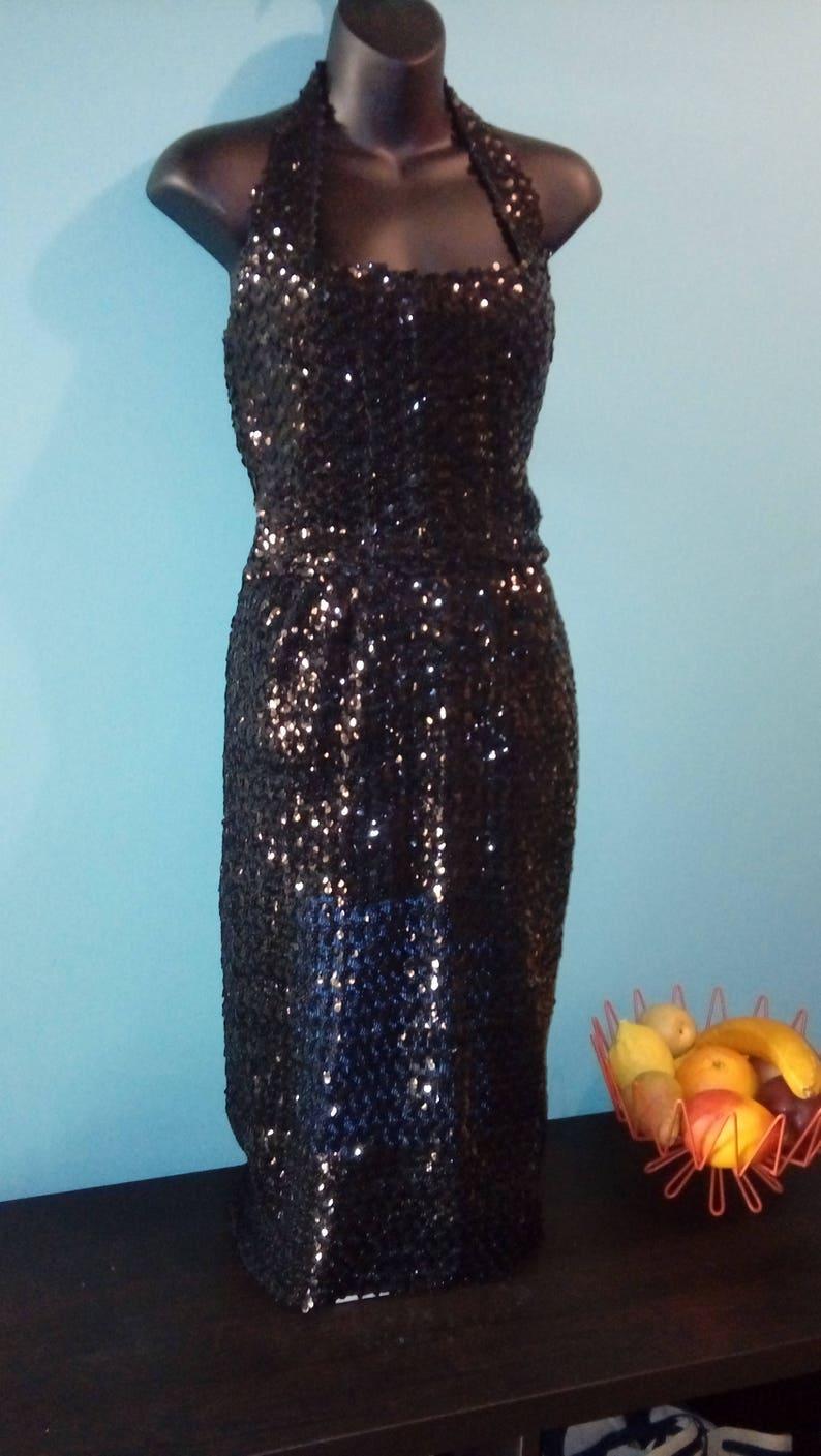 e700495a 1950s Sequin Dress Vtg Susan Thomas New York 50s LBD 50s | Etsy