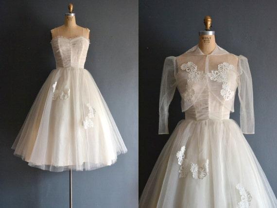 Fern / 50s wedding dress / vintage 1950s wedding d