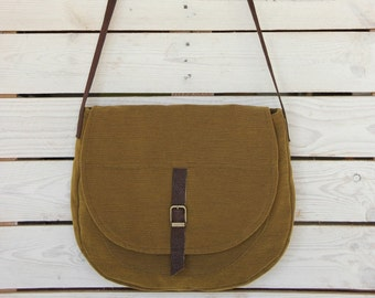 Saddle Bag Purse, Green Crossbody bag, Sling bag Crossbody, Crossbody bag for women