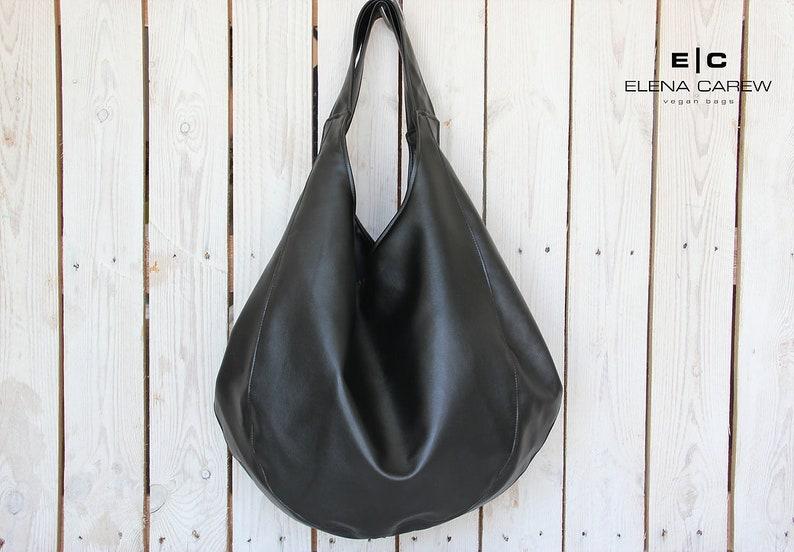 13c65f8f6a Grand sac noir sac cabas en néoprène sac à main noir sac   Etsy