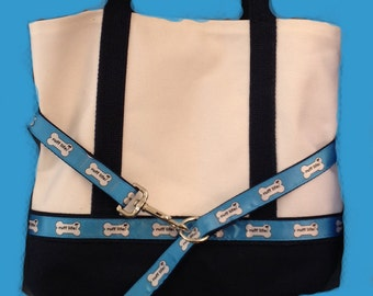 Dog lovers gift, beach bag, weekend bag with dog leash! Dog lover gift! mongramed, overnight trips, gift pet owners, rescue dogs