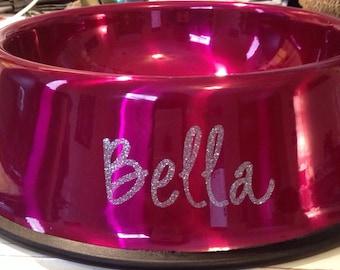 Large Personalized Dog Bowls,