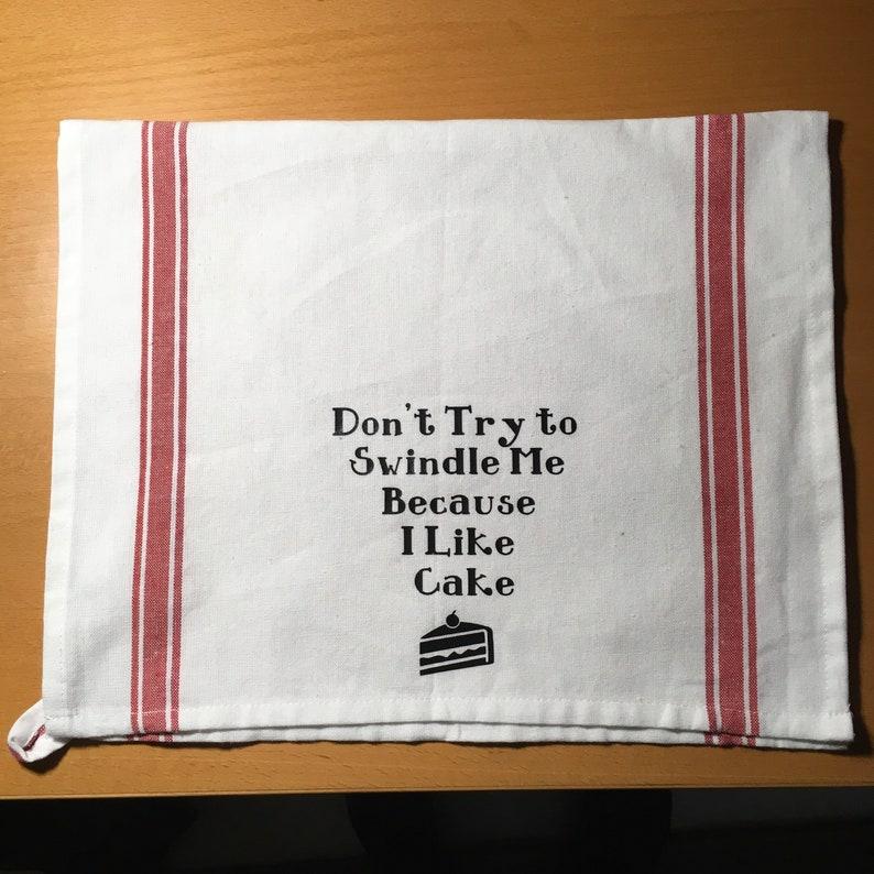 90 Day Fianc\u00e9 Angela Cake Swindle Quote Kitchen Tea Towel