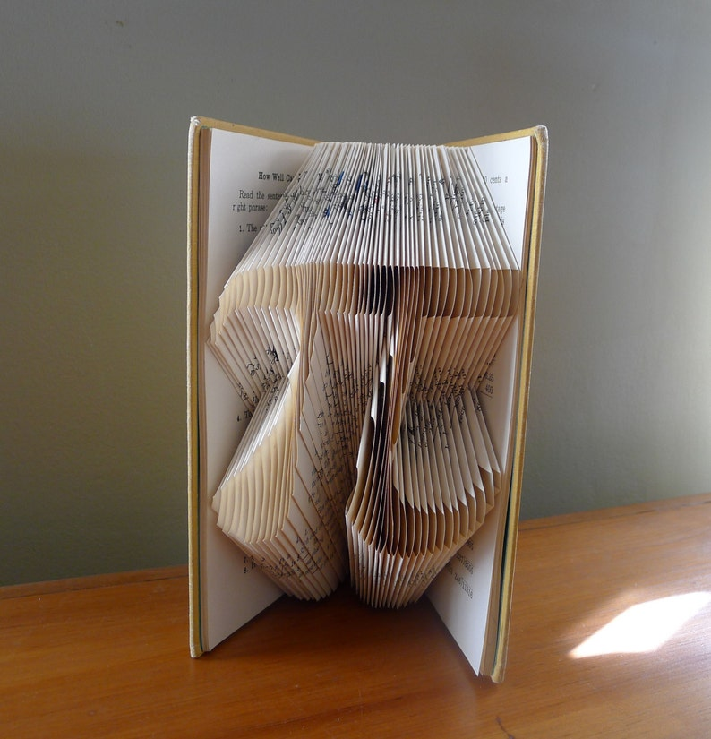 Pi  Folded Book Art  Math  Pi Day  March 14th  Forever  image 0