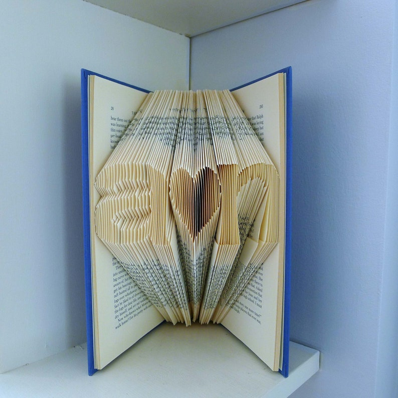 Folded Book Art First 1st Anniversary Gift For Boyfriend Etsy