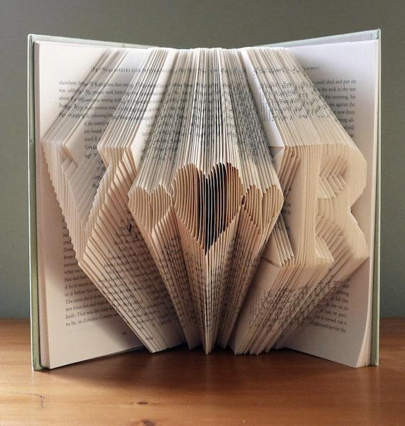 Dekoracje ślubne Unique Monogramm Składana Książka Inicjały Z Etsy