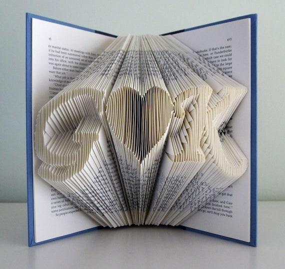 calidad perfecta compra venta venta al por mayor Primer regalo de aniversario para hombres novio esposo a esposa - doblado  de papel primer aniversario - regalo para él - regalos para ella - libro -  ...