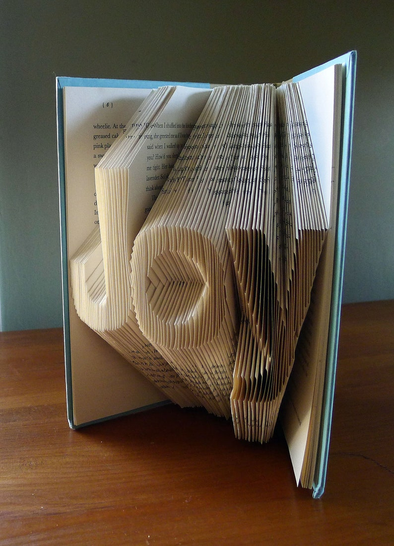 Joy  Home Decor  Holiday  Folded Book Art   Decorative image 0
