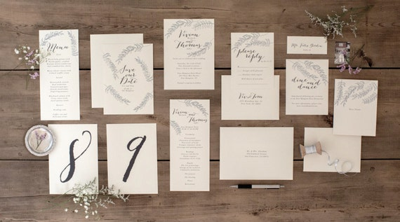 Intimate Romantic Timeless Wedding Card Elegant and Sophisticated Vivian Suite unique Script Font Modern Thank You Cards
