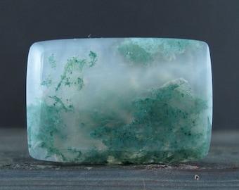 SALE  Green moss agate cabochon  B6443