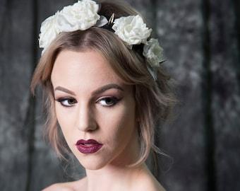 Stevie: Spike Floral Crown Headband
