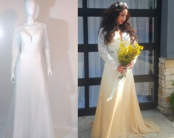 ONE COLOR NATURAL Ombré Dip Dye your Silk or Cotton Wedding Dress - Professional Dye Lab - Colorful Bridal Gowns