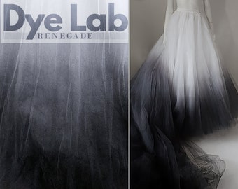 ANY COLOR Ombre Dip Dye Bridal Skirt Detachable Separates Tulle Ballgown: CATHEDRAL Train